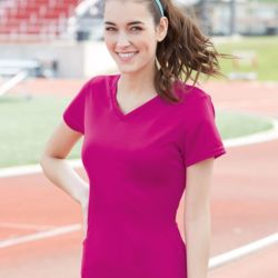 2792 Ladies' V-Neck Wicking T-Shirt Thumbnail